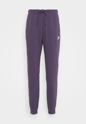 PANT - Tracksuit bottoms - dark raisin/white