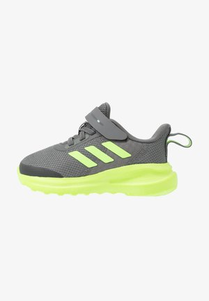 FORTARUN UNISEX - Obuwie do biegania treningowe - grey four/signal green/footwear white