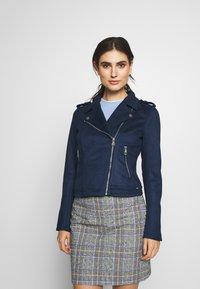 TOM TAILOR DENIM - Faux leather jacket - sky captain blue - 0