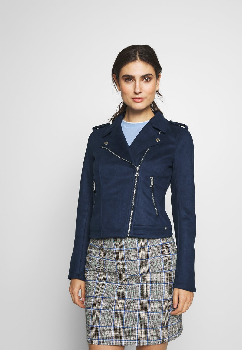 TOM TAILOR DENIM - Faux leather jacket - sky captain blue