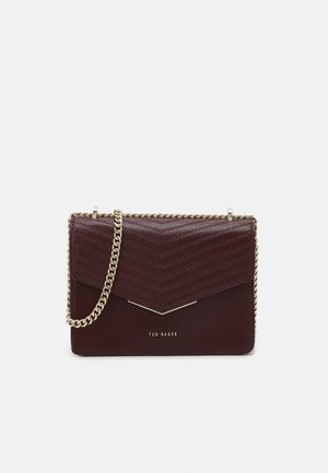 PATENT QUILTED ENVELOPE MINI XBODY BAG - Borsa a tracolla - purple