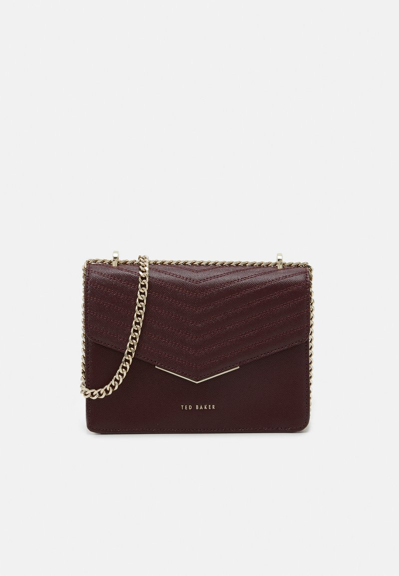Ted Baker - PATENT QUILTED ENVELOPE MINI XBODY BAG - Across body bag - purple