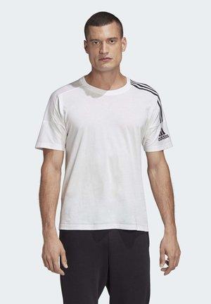 ADIDAS Z.N.E. 3-STRIPES T-SHIRT - Print T-shirt - white