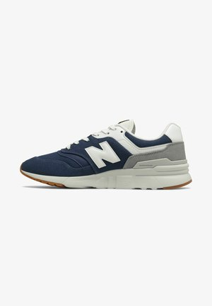 Sneakers laag - naturalindigo/gold