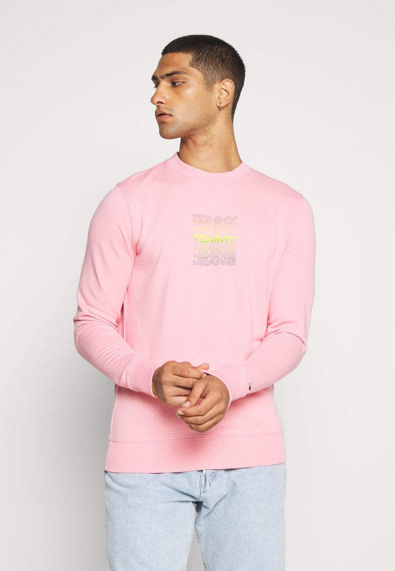 Tommy Jeans - LIGHT CREW - Sweatshirt - rosey pink