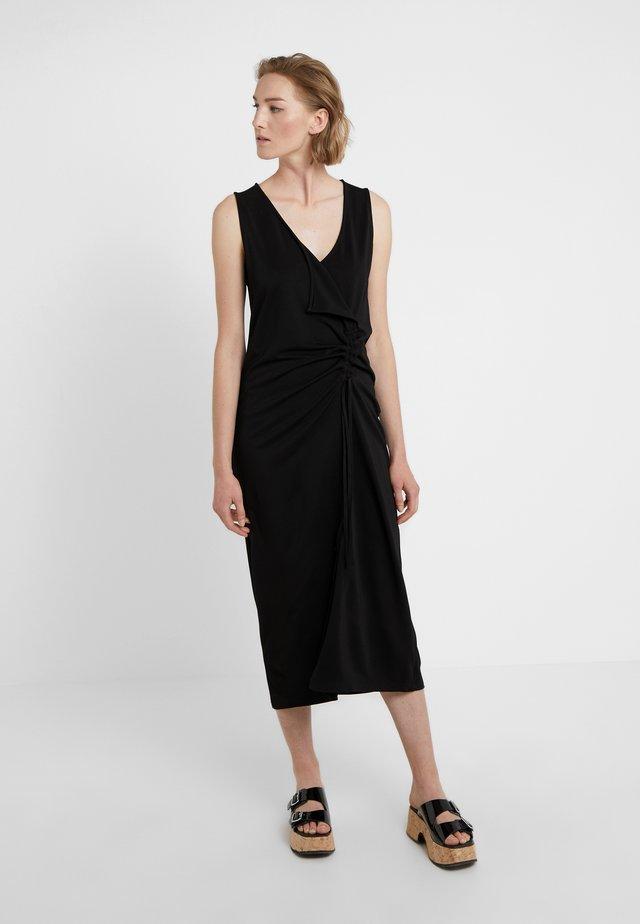 TRIPLE MIDI  - Maxi dress - darkest black