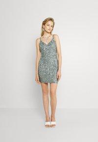 Lace & Beads - GRAISON MINI - Cocktail dress / Party dress - teal - 1