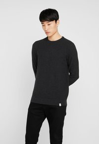Pier One - Stickad tröja - mottled dark grey - 0