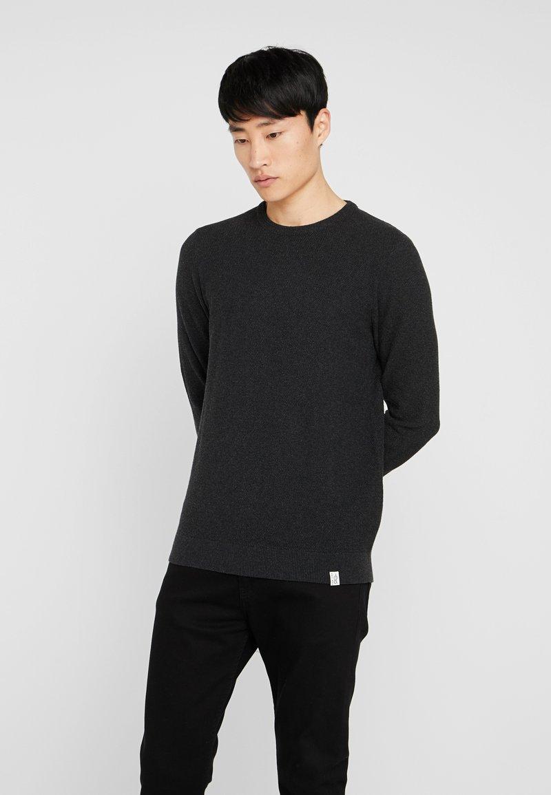 Pier One - Stickad tröja - mottled dark grey