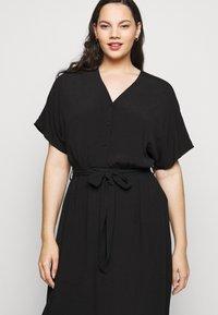 Selected Femme Curve - SLFENNA DRESS - Vapaa-ajan mekko - black - 4
