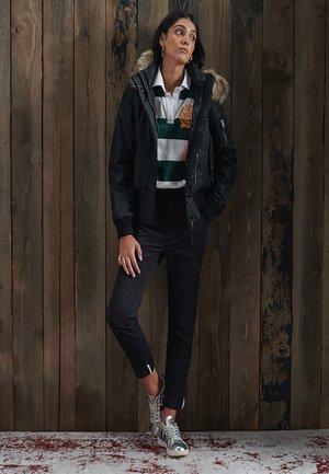 HOODED FLIGHT - Winter jacket - black