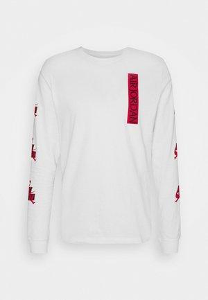 CLASSICS CREW - Maglietta a manica lunga - white/gym red