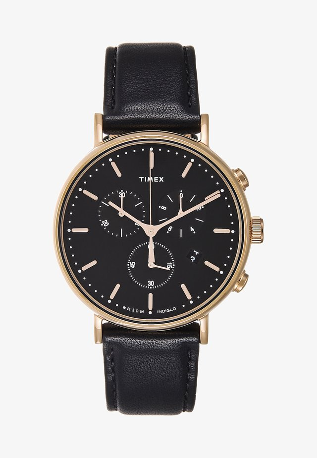 FAIRFIELD CHRONOGRAPH SUPERNOVA 41 mm - Hodinky se stopkami - black/gold-coloured