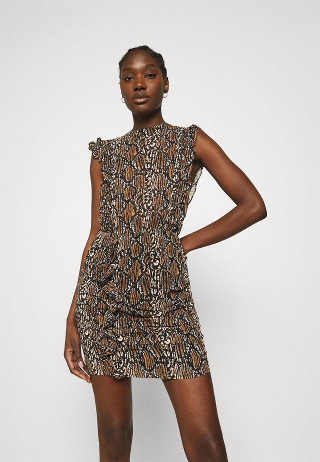 REILLY DRESS - Korte jurk - brown