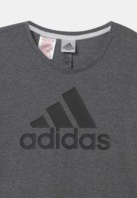 adidas Performance - LOGO UNISEX - Print T-shirt - black/white - 2