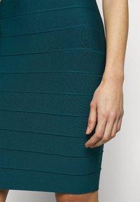 Hervé Léger - HALTER NECK DRESS - Sukienka dzianinowa - slate teal - 8