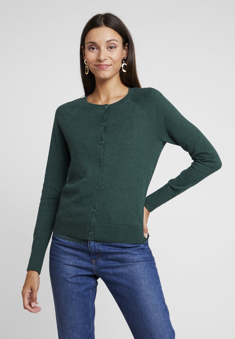GAP - SLIM CREW CARDI - Cardigan - mountain teal