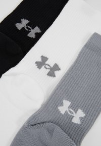 Under Armour - HEATGEAR CREW 3 PACK - Sports socks - steel/white - 2