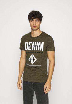 T-shirt imprimé - dry greyish/olive melange