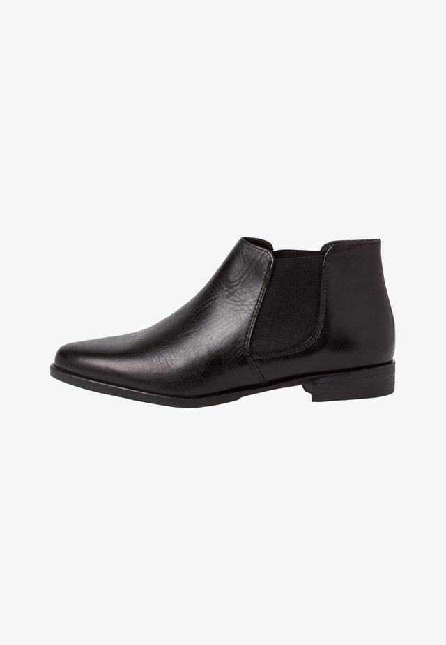 Boots à talons - black leather