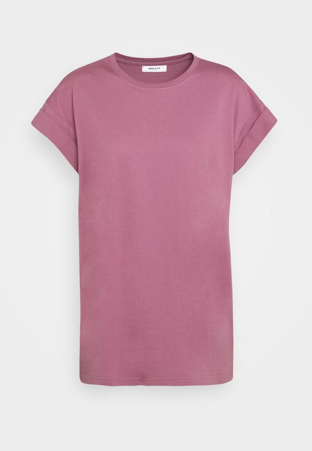ALVA PLAIN TEE - Basic T-shirt - dusky orchid