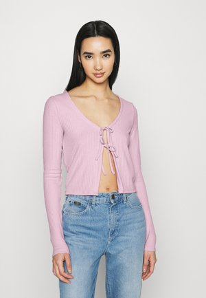 SLIM DOUBLE TIE - Cardigan - light pink
