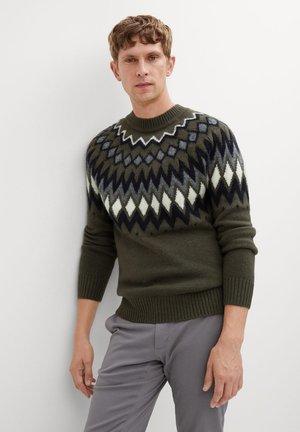 SWEDEN - Stickad tröja - khaki