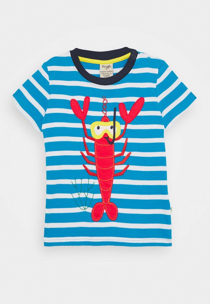 Frugi - SID LOBSTER - Print T-shirt - motosu blue
