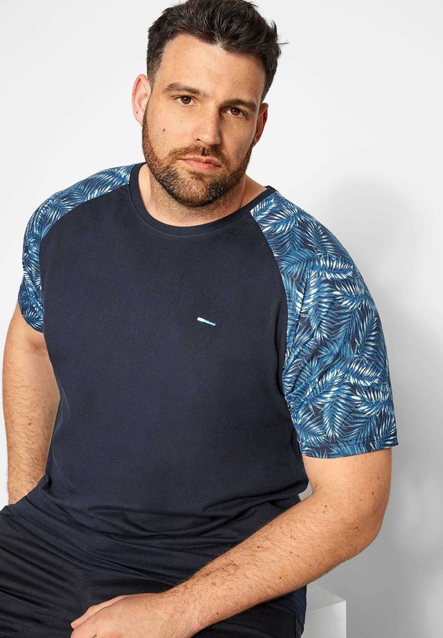 LEAF PRINT - Print T-shirt - blue