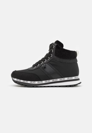 MID - High-top trainers - black