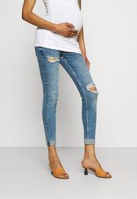 River Island Maternity - AMELIE MATERNITY ROLAND  - Jeans Skinny Fit - dark blue - 0
