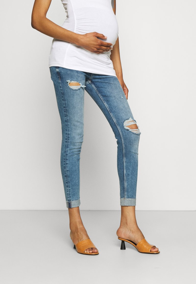 River Island Maternity - AMELIE MATERNITY ROLAND  - Jeans Skinny Fit - dark blue