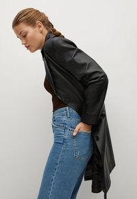 Mango - Leather jacket - schwarz - 3