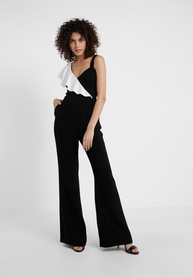 JANE - Overall / Jumpsuit /Buksedragter - black/ecru