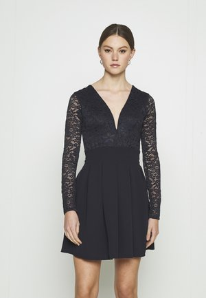 VIVTORIA PLUNGE SKATER DRESS - Cocktail dress / Party dress - navy blue