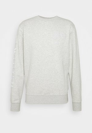 CREW - Felpa - grey heather/white