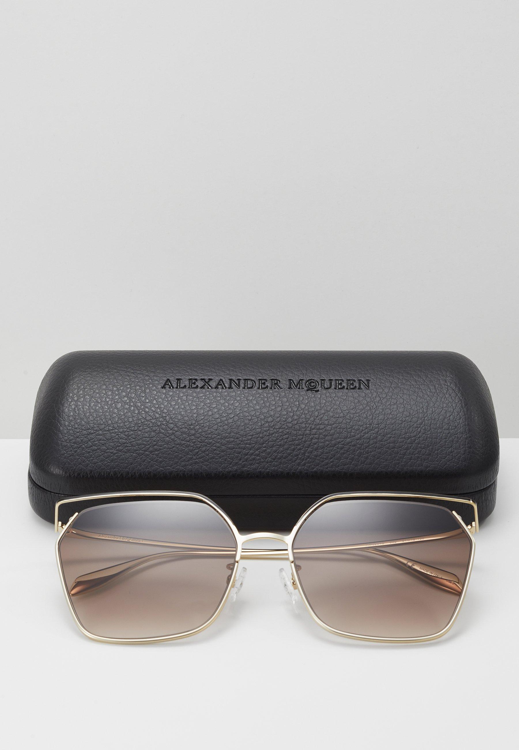 Alexander McQueen SUNGLASS WOMAN  - Lunettes de soleil - gold-coloured/brown
