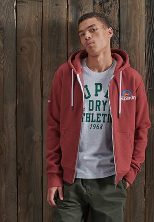 Zip-up hoodie - creek red marl