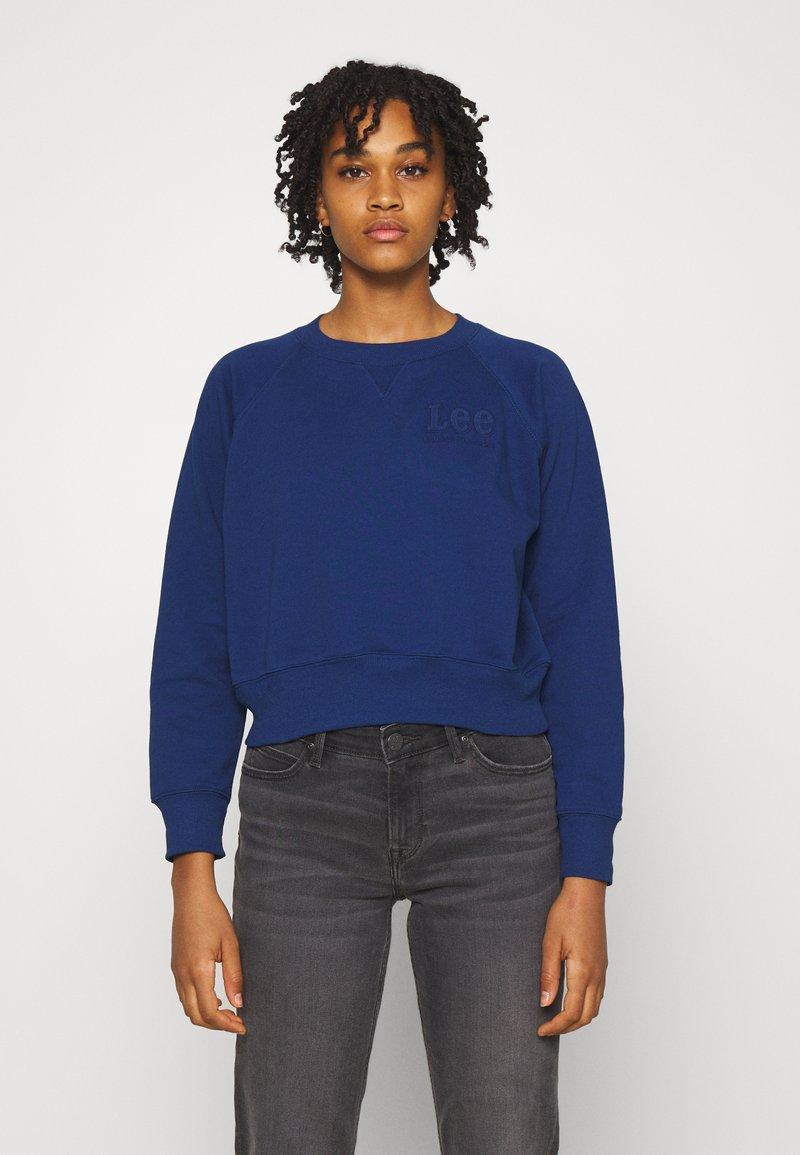 Lee - VINTAGE CROPPED  - Sweatshirt - washed blue