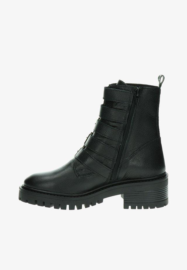 Veterboots - zwart