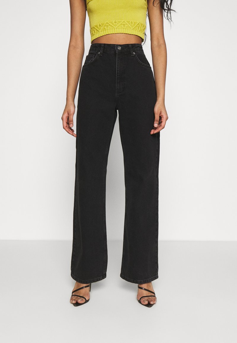 NA-KD - FULL LENGTH  - Jeans relaxed fit - black