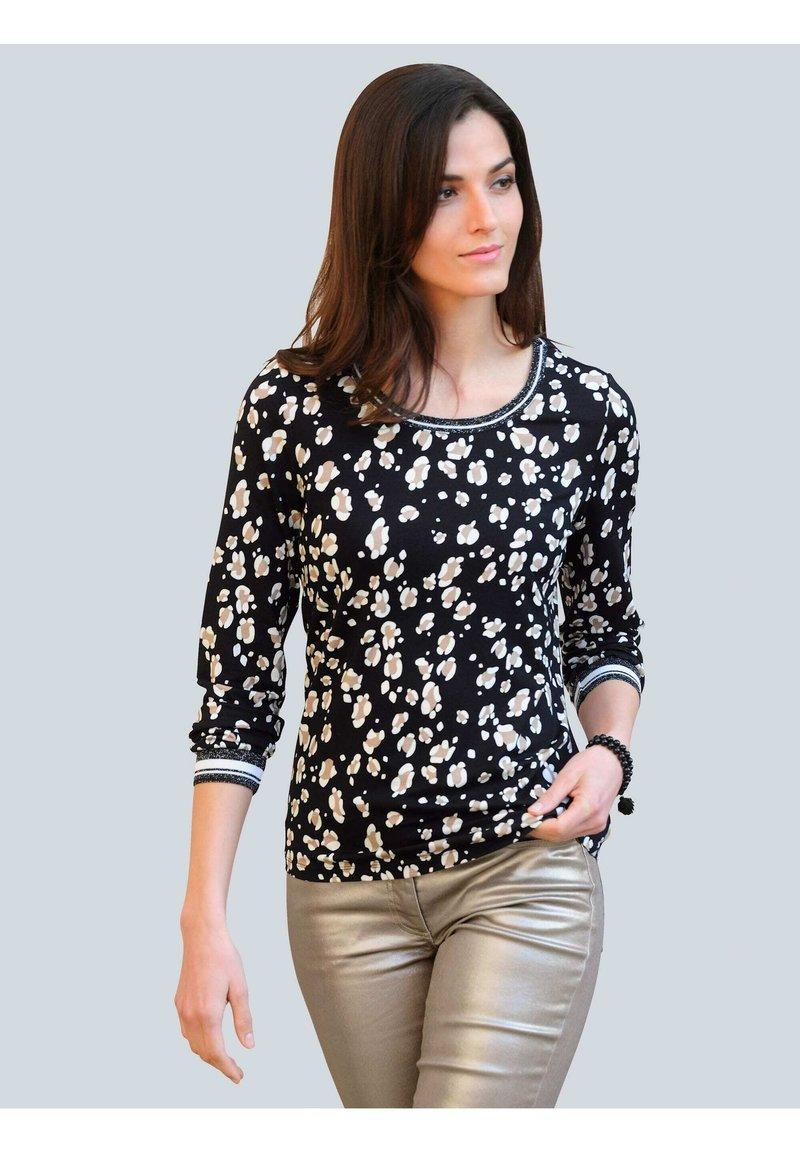 Alba Moda - Long sleeved top - schwarz,off-white,taupe