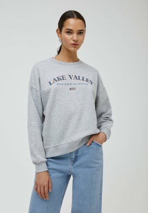 COLLEGE-SWEATSHIRT MIT RUNDAUSSCHNITT - Sweater - grey