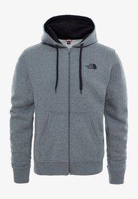 The North Face - MIT WÄRMENDER  - Zip-up sweatshirt - mottled grey - 0