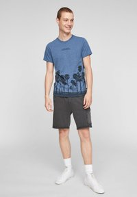 QS by s.Oliver - Print T-shirt - blue - 1