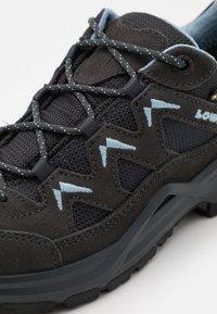 Lowa - SIRKOS EVO GTX - Hiking shoes - graphite/iceblue - 5