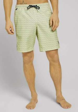 MIT REPREVE - Swimming shorts - yellow blue palm design