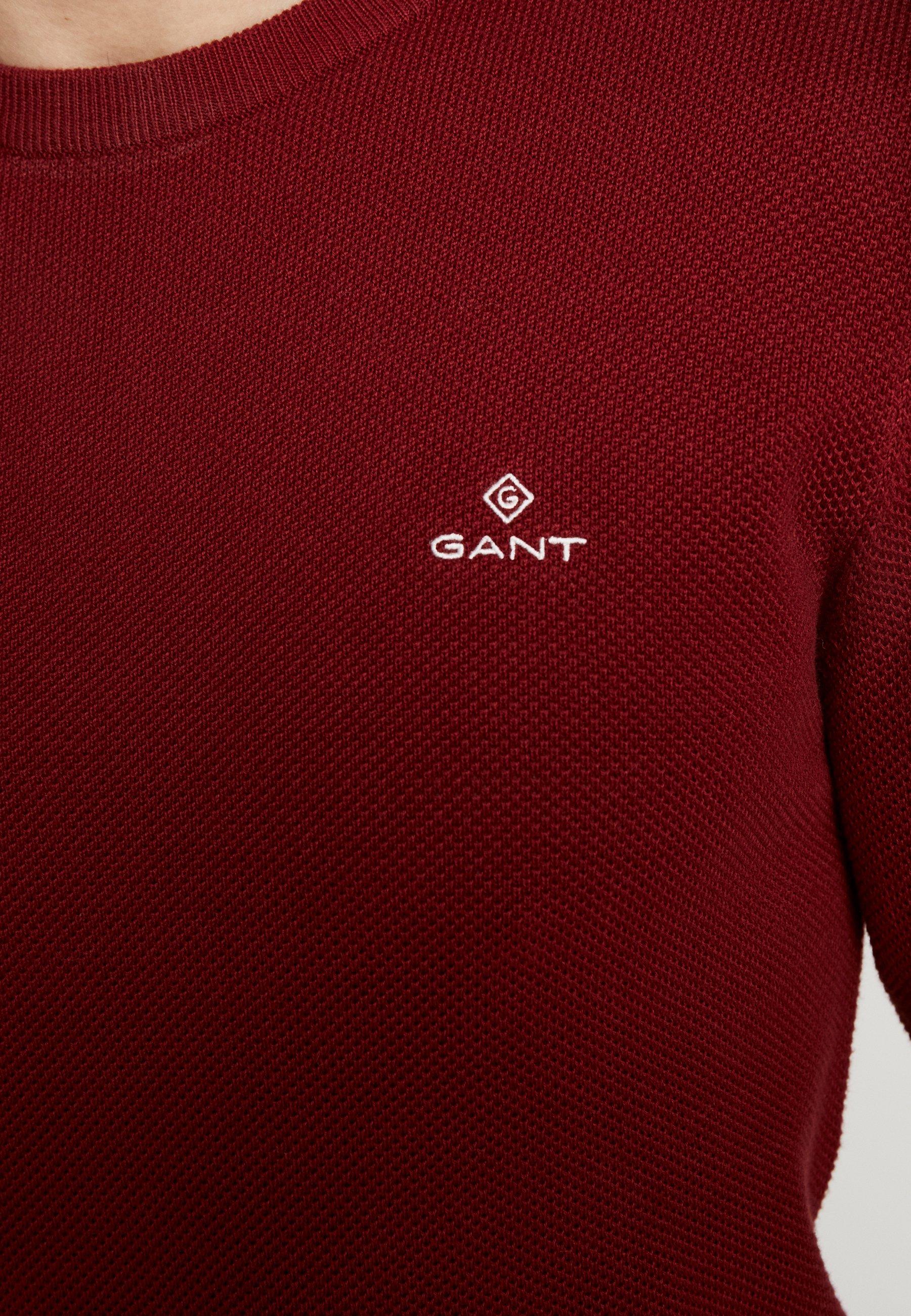 GANT C-NECK - Pullover - crimson red