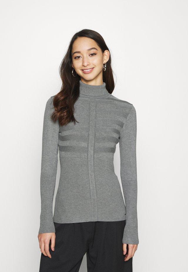 MENTOS - Stickad tröja - gris anthracite