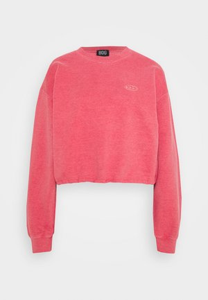 BUBBLE HEM  - Sweatshirt - washed red